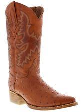 cognac rust brown western ostrich pattern cowboy boots alligator ranch rodeo