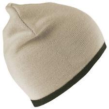 Hombre RESULTADO Cálido De Invierno reversible Ajustada Al Cuerpo Sombrero