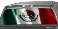 MEXICAN FLAG Rear Window Graphic Decal Print Tint Truck SUV Sticker Stripe Van