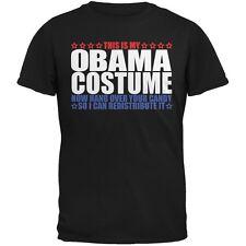 Halloween Funny Obama Costume Black Adult T-Shirt