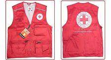 Gilet Sans manches Rouge Avec De La Broderie Croix Italienne CRI SML-XL-XXL