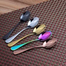 Stainless Steel 14cm Teaspoon Latte Ice Cream Sundae Coffee Spoon 4 Colors