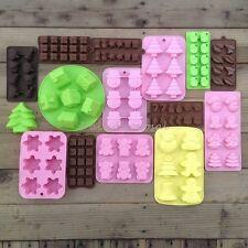 21+ Christmas Soap Bake Cake Ice Chocolate Candy Mold Silicone Homemade Craft US