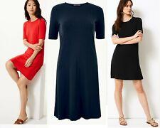 Womens M&S TShirt Swing Dress Ladies Jersey Beach Summer Tea Dress Nightie Size