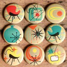 vtg 50's 60's Fridge Magnets Retro Atomic Eames Era Rockabilly Furniture Novelty