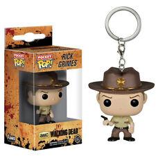 Pocket pop PVC Walking Dead Rick Daryl Keychain Keyrings Figure Toy