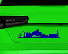 Aufkleber Wismar Skyline mehrere Größen  11 Farben 2 Größen