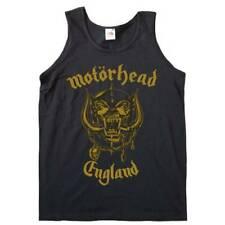 Motorhead 'England Gold' Womens Vest Top - NUOVO E ORIGINALE