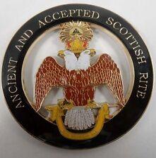 Freemason Ancient and Accepted Scottish Rite 33 Degree Car Emblem