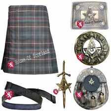 HS Men's Scottish Traditional Kilt Set Outfit 16oz 8 Yards Acrylic Wool Tartans