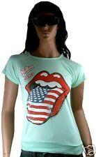 GENIAL Amplified ROLLING STONES EE.UU. stars stripes LICK rock VIP Camiseta S/M