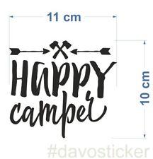 Happy Camper Sticker Aufkleber Camping Caravan Zelt VW Bus Klappfix Urlaub