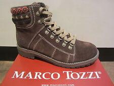 Marco Tozzi Stiefel zum Schnüren, Leder, braun, warm gefüttert NEU!!