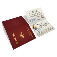 Hochzeitseinladungen als Reisepass Ausweis Passport Partypass Einladungskarten