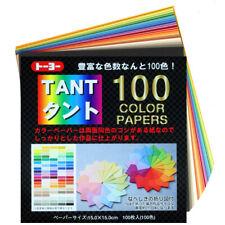 Origami TANT 100 Farben-MIX,  japanisches Origamipapier, durchgefärbt