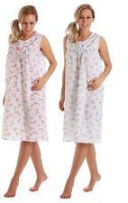 Ladies Nightdress Long Cotton Blend Lightweight Thin Summer Plus Size 10 to 32