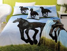 Stunning BLACK STALLION Horse QUEEN Size Quilt Doona Cover Set
