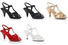 "PLEASER Belle-322 Formal Evening Dress Party Wedding T-Strap Sandal 3"" Heel 4-15"