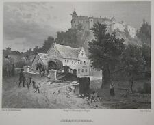 1885 Janowa Góra Johannisberg Schlesien Polen Stahlstich-Gesamtansicht