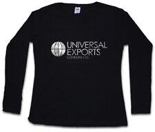 UNIVERSAL EXPORTS WOMEN LONG SLEEVE T-SHIRT James Sign Logo Company MI6 Bond