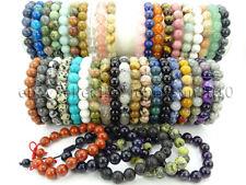 Handmade 10mm Adjustable Natural Gemstone Round Beads Bracelet Healing Reiki