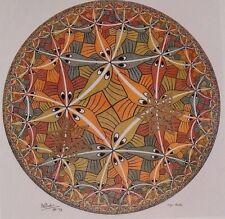 Vintage MC Escher Art Print Poster 11.5