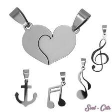 Ein Edelstahl Kettenanhänger Liebe Note Notenschlüssel Herz Anker Freundschaft