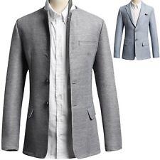 Men Luxury Modern Dandy Formal Special Waffle Coat Blazer Jacket Jumper Top T029