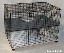 Indoor Rabbit Bunny Condo cage, HANDMADE, pen home hutch carpeted NEW