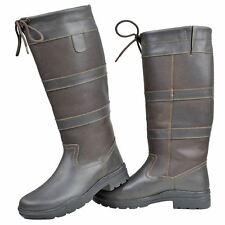 HKM Equestrian Adulti Belmond Inverno Fashion Pelliccia Stivali lunghi in pelle elasticizzata