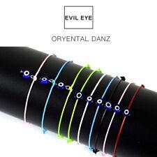 Thin Thread Evil Eye Bracelet String Rope Braided Bangles For Women Adjustable