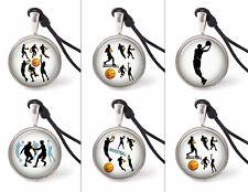 Vietguild's Basketball Sport Designs Necklace Pendants Pewter Silver