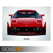 FERRARI 288 GTO RED (AA970) CLASSIC CAR POSTER - Poster Print Art A0 A1 A2 A3