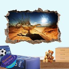ALADINO Lampada Magica Genie 3d rotto Muro Sticker Decorazione Per Soggiorno Decalcomania Murale ys3