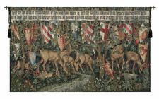 Verdure with Reindeer Belgian Medieval Landscape Woven Tapestry Wall Hanging
