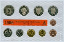 RFA Set de monedas DM sin circulación oBH (Seleccione entre : 1991-2001 y ADFGJ)