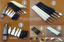 5 Kind Leather Craft Nano Ceramic Blade Swivel Carving Knife Modelling Tool Set