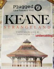 SPORT B. PLUGGED KEANE Strangeland 2012 Taipei Live Concert Taiwan Promo Poster