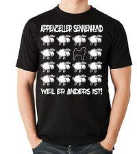 T-Shirt BLACK SHEEP - APPENZELLER SENNENHUND - Hunde Fun Schaf Men Hund