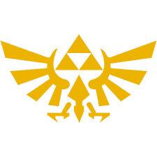 "Legend of Zelda Hyrule Crest TriForce Logo 3"" Decal Sticker Car Window Laptop"