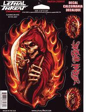 Aufkleber Set Modell Flaming Reaper Größe je 16,8  x 12,0 cm