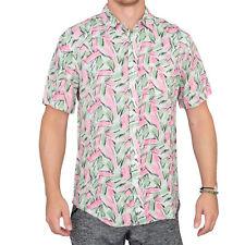 Adult Mens Halloween Tropical Hopper Costume Hawaiian Button Down Shirt