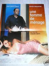 AFFICHE FILM 40X60 / UNE FEMME DE MENAGE / BACRI /TBE