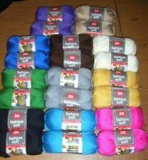 Lot of 2 Skeins, Red Heart Fashion Soft Yarn, 5 oz/ 381 yds, You Choose Color
