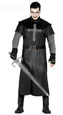 Mens Medieval Knight Costume Black Mercenary Fancy Dress Halloween 42-44 NEW