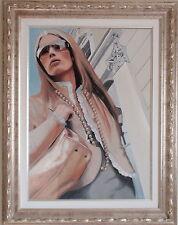 Maria G. PERI olio tela 70x50 + catalogo con lodola kostabi warhol guttuso tozzi