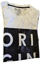 Penguin T-shirt da uomo pieno Penguin Logo-Bianco Brillante (g15)
