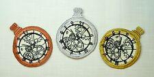Bordado Reloj De Bolsillo y/o Reloj Cadena Adorno / parche / applique-3 Colores