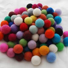 100% Lana Feltro palle - 2,5 cm - 100 conteggio-assortiti / colori misti