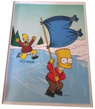 "Simpsons Fox Tv Show Mini Poster 2007 14""X10 1/2"" Bart Ice Skating Homers Pants"